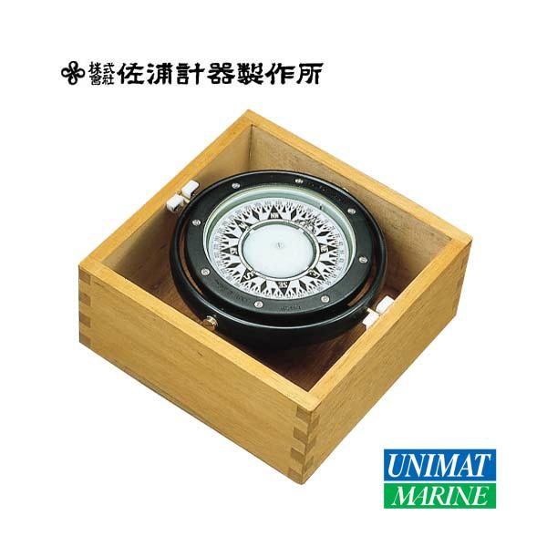 木箱入りボートコンパス B-100S 商品番号:197 【ユニマットマリン・大沢マリン・ボート用品・船舶】