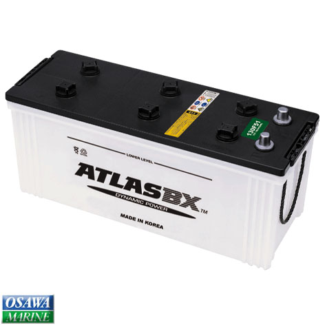 ATLASバッテリー 155G51 商品番号:30685 【ユニマットマリン・大沢マリン・ボート用品・船舶】