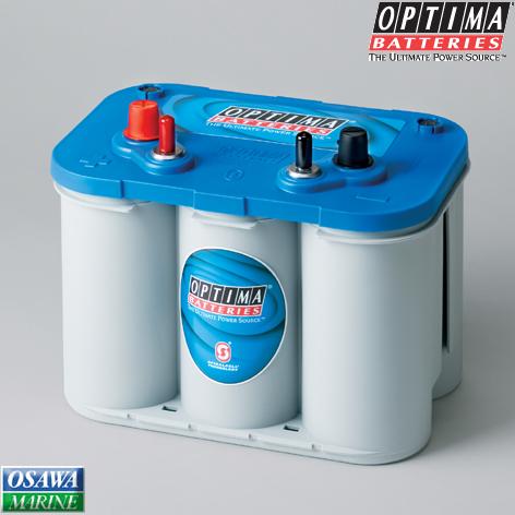 オプティマ バッテリー(OPTIMA BATTERIES) ブルートップ(BLUE TOP) BT 商品番号:31163 【ユニマットマリン・大沢マリン・ボート用品・船舶】