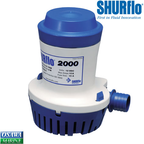 SHURFLO シャフロ 海水ポンプ 水中ポンプ 直流24V-2000GPH