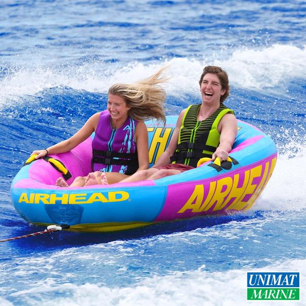 Airhead トーイングチューブ スローン 2人乗り | 二人乗り トーイングチューブ ボート 2人 トーイング グッズ 浮き輪 浮輪 フロート ウキワ うきわ 大人 大人用 子供 子供用 フロートボート プール 海水浴 海 親子 キッズ 小学生 ビーチグッズ ビーチ ジェットスキー