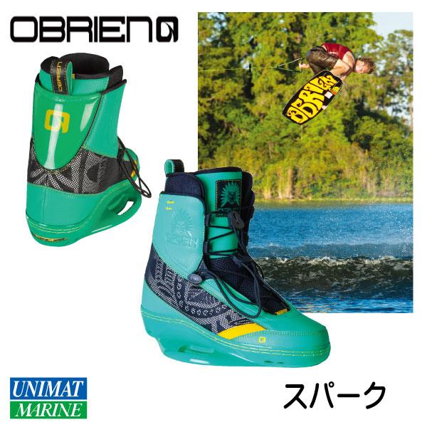 オブライエン OBRIEN ウェイクブーツ スパーク 6-9 24-27cm グリーン 緑【ウェイクボード・ビンディング】