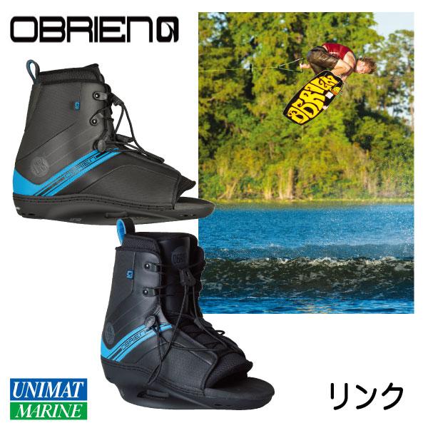 オブライエン OBRIEN ウェイクブーツ リンク 29-31cm 黒 ブラック ブルー【ウェイクボード・ビンディング】
