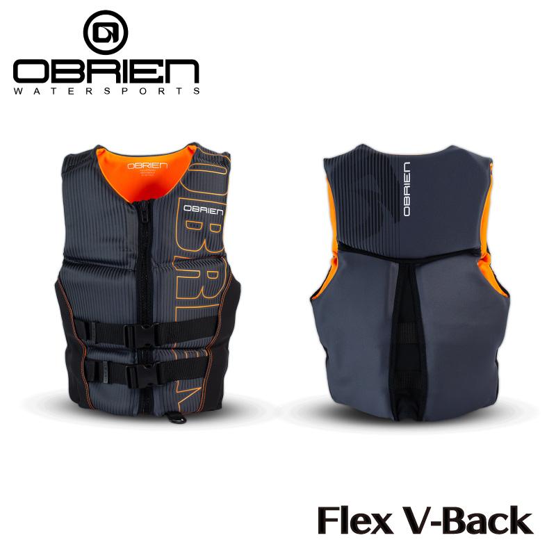 OBRIEN オブライエン メンズ Flex V-Back ベスト オレンジ Men's マリンスポーツ 在庫あり ライフベスト Life ウェイクボード 在庫処分 ネオプレーン Jacket ライフジャケット