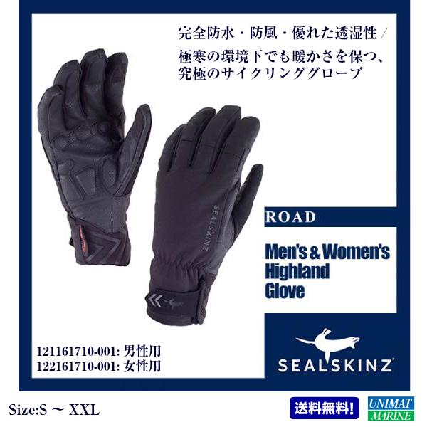 【XXLサイズは欠品中です】Seal Skinz(シールスキンズ)Men's & Women's Highland Glove 男性用 121161710-001