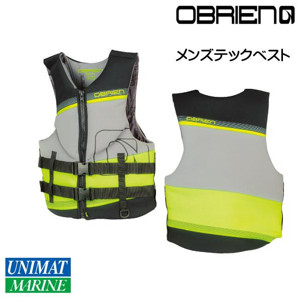 OBRIEN オブライエン メンズテックベスト Lサイズ 軽量 40-44インチ【マリンスポーツ・ウェイクボード・ライジャケ・ライフベスト・ライフジャケット】