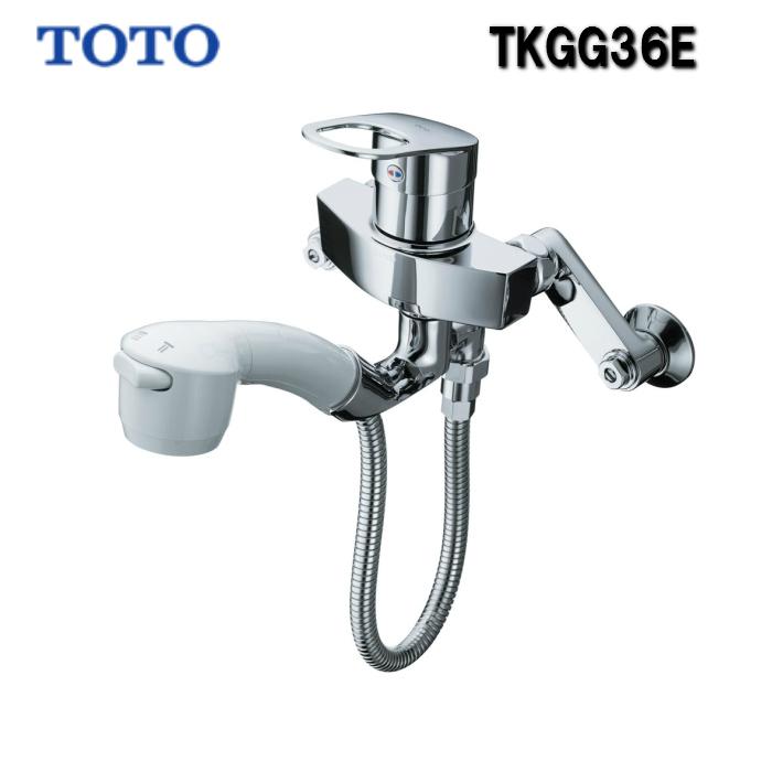TOTO TKGG36E キッチン水栓 シングルレバー混合栓 壁付きタイプ ハンドシャワータイプ