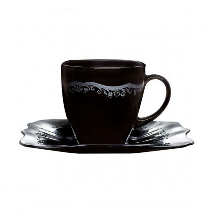 オーセンティック シルバーブラックカップ220&ソーサー 6客