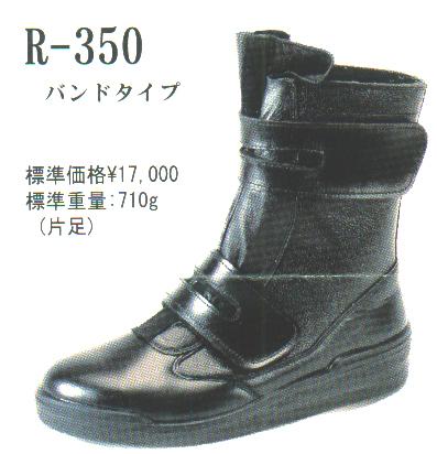 受注生産ではありますが【舗装工事用】マジックテープタイプ半長靴【青木産業 R-350】