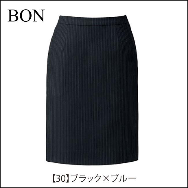 ブラックベースでシックなタイトスカート後ろゴム仕様で楽々です【ボンマックス LS2197】