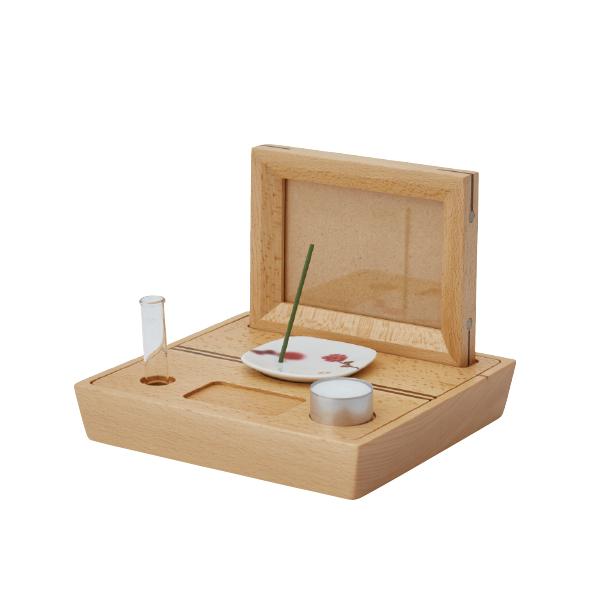 【送料無料】コンパクト仏壇 ステージタイプ ポーター ブナ