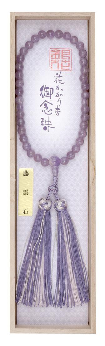 数珠 GH-1藤雲石 共仕立 銀花かがり房 桐箱