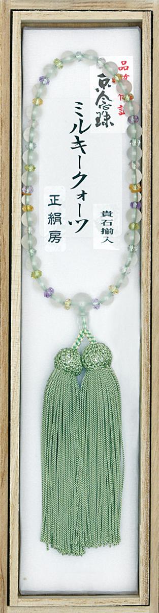 高質で安価 数珠 ミルキークオーツ 5色クオーツ 平切子 正頭房 正頭房 淡緑 淡緑, qoob[キューブ]大きいサイズの店:34a62794 --- slope-antenna.xyz