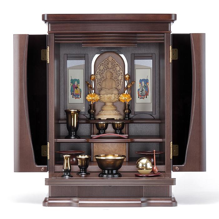 【送料無料】 家具調仏壇仏具セット フリージア 22号