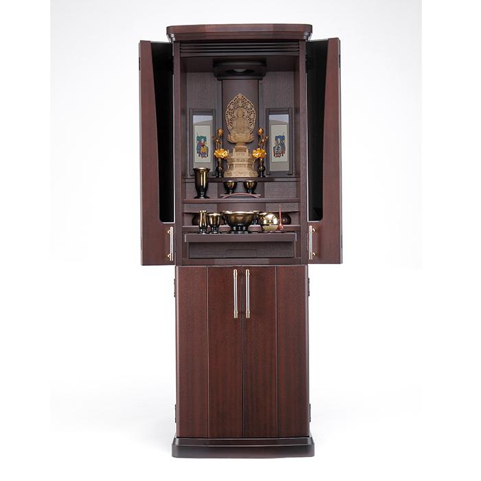 【送料無料】 家具調仏壇仏具セット アミュレット 45号