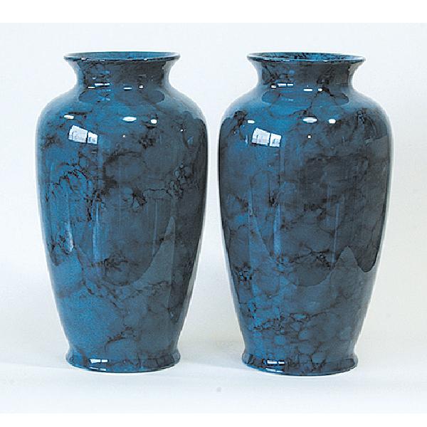花瓶 ブルーマーブル 尺寸(1本)