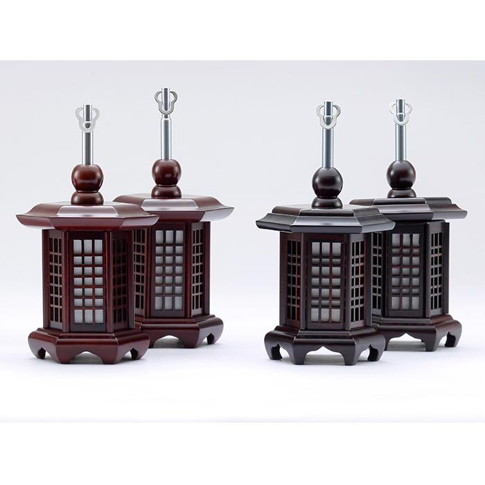 【送料無料】唐木六角吊り燈籠 極小