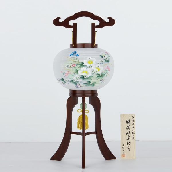 【送料無料】盆提灯 二重紫仙10号 芙蓉に撫子48701P
