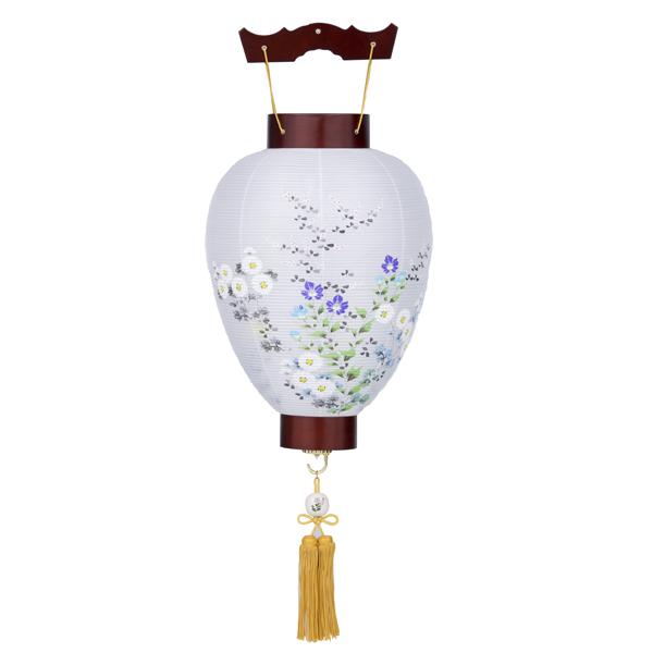 【送料無料】盆提灯 二重紫水 菊に萩 1367