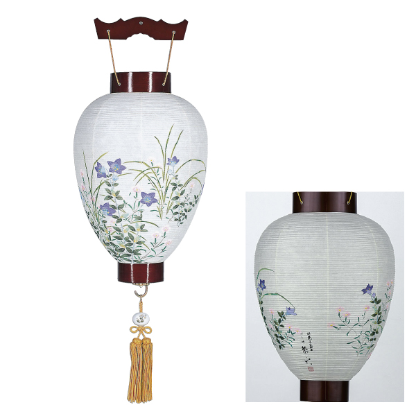 【送料無料】盆提灯 和紙天覧桔梗 桔梗 1816