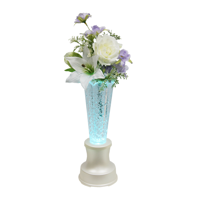 【送料無料】クリスタル灯花ともしびパールホワイト 洋花NO1ローズホワイト 対L-3-1 M
