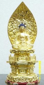 仏像 仏像 ご本尊 座釈迦臨済宗・曹洞宗・天台宗・黄檗宗木製純金・肌粉 2.0号【sybp】【w4】