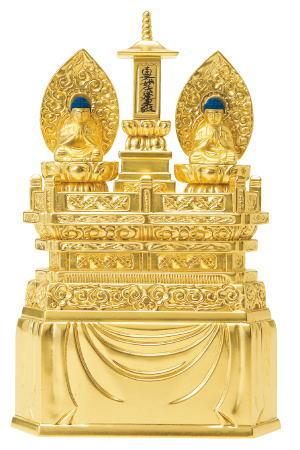 仏像 日蓮宗 ご本尊三宝尊 0.8寸 総金箔