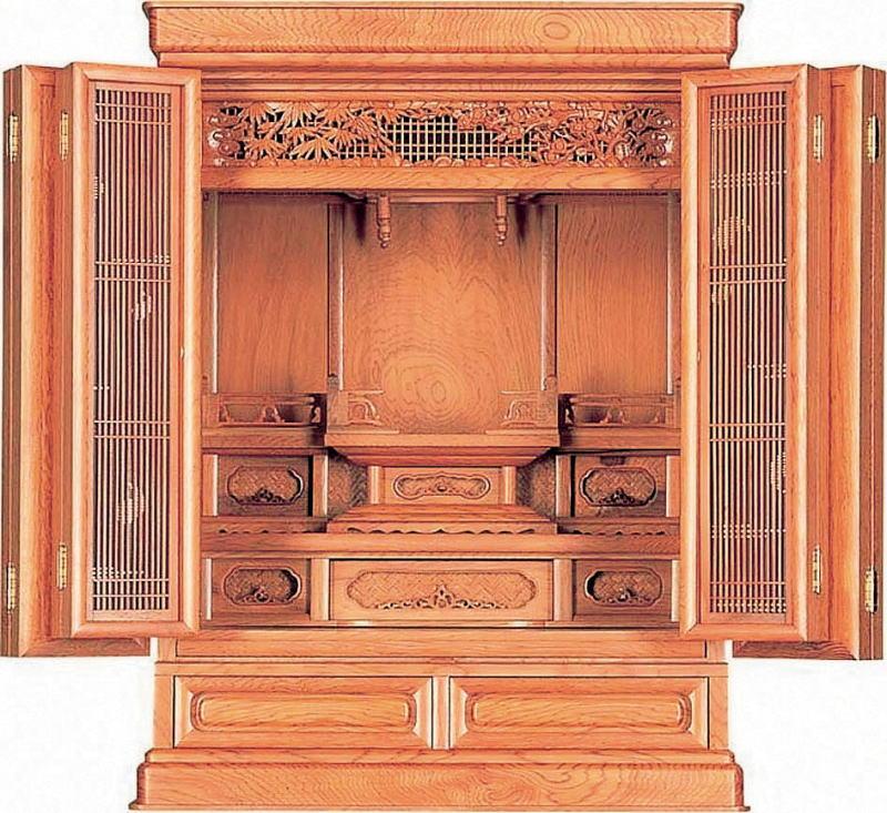 仏壇 屋久杉 上置仏壇 唐木仏壇 国産仏壇 25号