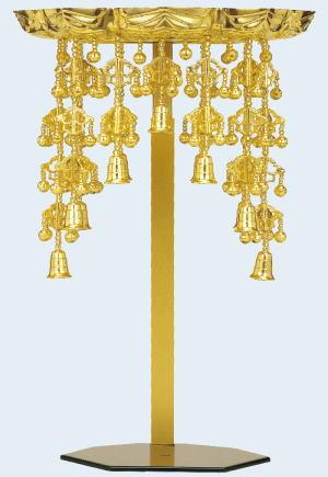 仏具 仏天蓋 純金 仏壇用 据置型 5.0寸