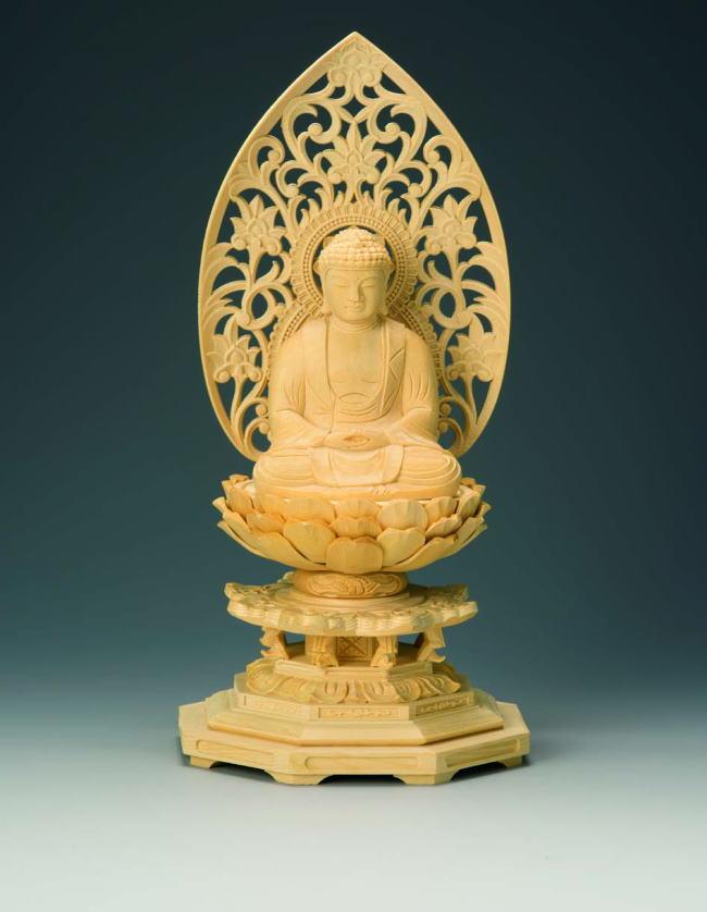 仏具 仏像 ご本尊 八角台座 座釈迦1.8寸