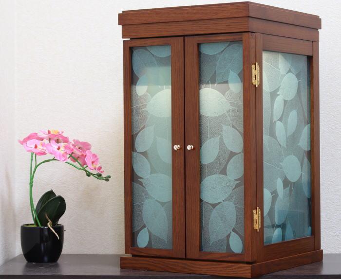 仏壇 モダン仏壇 家具調仏壇ミニ仏壇 光の葉