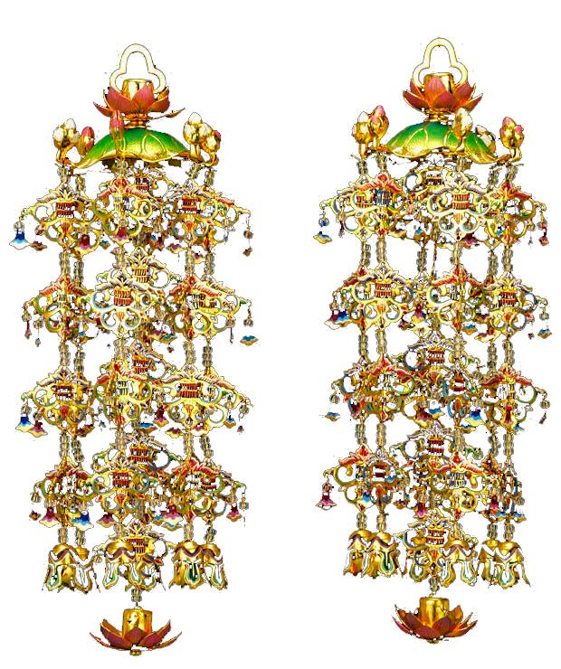 日本最大のブランド 仏具 真鍮蓮傘 白玉淡彩色 瓔珞 白玉淡彩色 瓔珞 本金メッキ 真鍮蓮傘・中(4号)1対, 佐賀県有田町:86690804 --- dibranet.com