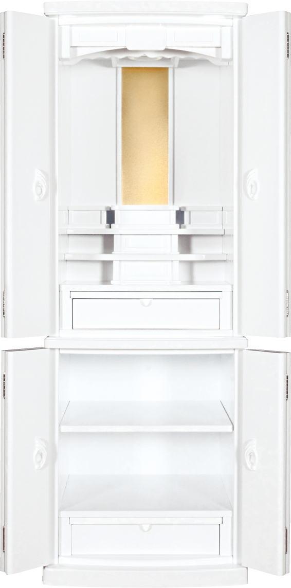 仏壇 モダン仏壇 家具調仏壇 床置き仏壇白い仏壇 ホワイト45号満点レビューで仏具20%OFF