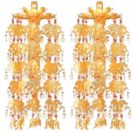 【仏具】【りんとうようらく】一重五段 アルミ・3.5寸 1対