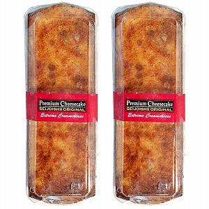 クリームチーズをたっぷり使ったしっとり濃厚なチーズケーキがほろほろとした生地によく合います。レーズン入り。 【送料込み】 成城石井自家製 プレミアムチーズケーキ 2本セット (冷蔵発送)