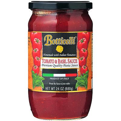 イタリア産のトマト オリーブオイル 玉ねぎ バジルを使用した テレビで話題 メーカー再生品 トマトバジル フレッシュバジルの香りがお楽しみいただけるイタリアの家庭的な味わいのソースです ボッティチェッリ 680g