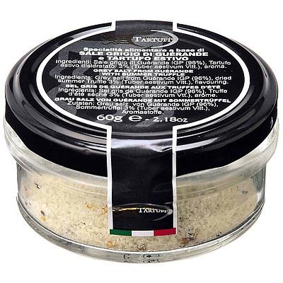 イタリア産の黒トリュフとフランス産のゲランドの塩を使用 ひとさじお料理にふりかければ トリュフの芳醇な香りが広がります ジュリアーノ 60g ゲランドの塩 タルトゥーフィ 値引き 男女兼用 トリュフ入り