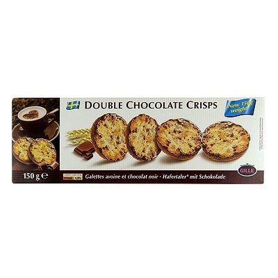 オート麦をふんだんに使ったクッキー お求めやすく価格改定 クッキーでチョコレートをはさんでおり ボリューム満点です ギレ ショップ ダブルチョコレートクリスプ 150g