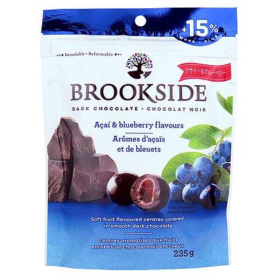 スーパーフルーツのアサイーと 上品に香り立つ甘酸っぱいブルーベリーを上質なダークチョコレートで包み込みました メーカー在庫限り品 ブルックサイド 定番の人気シリーズPOINT ポイント 入荷 235g アサイブルーベリー ダークチョコレート