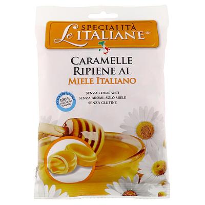 中にイタリア産のはちみつが入ったキャンディ。合成着色料、化学調味料不使用。 セラ イタリアン ハニーキャンディ 100g