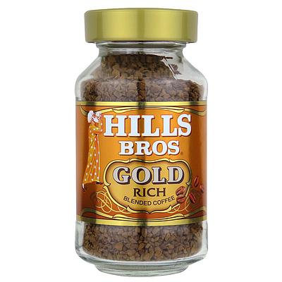 予約販売品 全品送料無料 さわやかな香味のブレンドコーヒーです 優雅な香りと深みのあるリッチな味わいが楽しめます ヒルス 90g インスタントブレンドゴールド