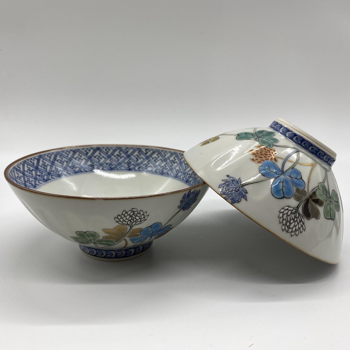 京焼・清水焼 山本壹楽 白つめ草組茶碗