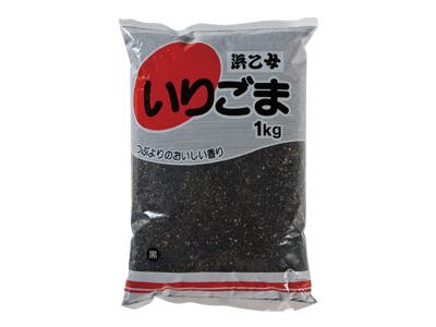 【浜乙女】黒 いりごま 1kg×12