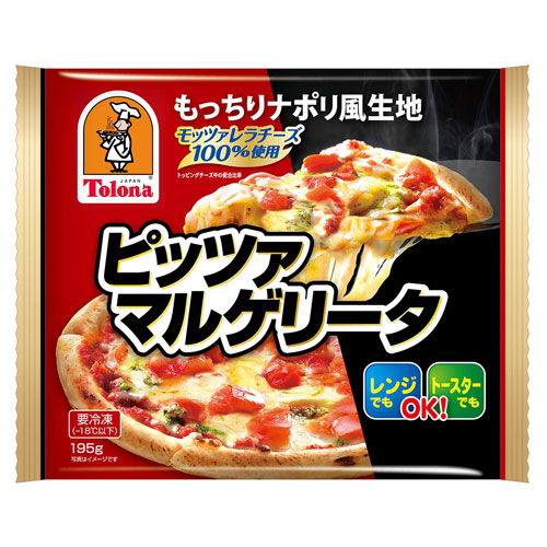もっちりナポリ風生地 電子レンジでもトースターでもOK トロナ 電子レンジOK 税込 ピッツァ マルゲリータ 1枚 電子レンジ調理対応 NEW pizza 冷凍食品 re_26 p10 195g もっちりナポリ風ピザ