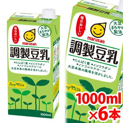 マルサン 信憑 調製豆乳 1000ml×6パック 調整豆乳 jo_62 1L×6 本日の目玉 p5