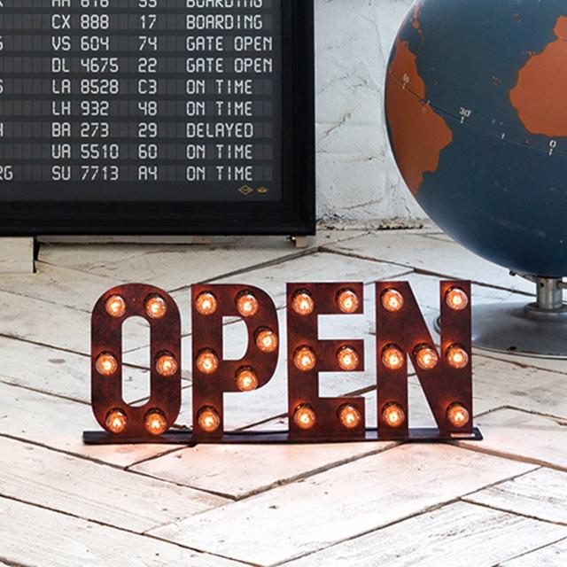【送料無料】オープンサイン cafesign アートワークスタジオ Sign Lamp OPEN(サインランプ オープン)
