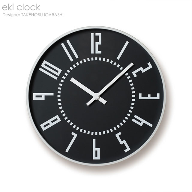 eki clock ブラック 掛け時計【送料無料】