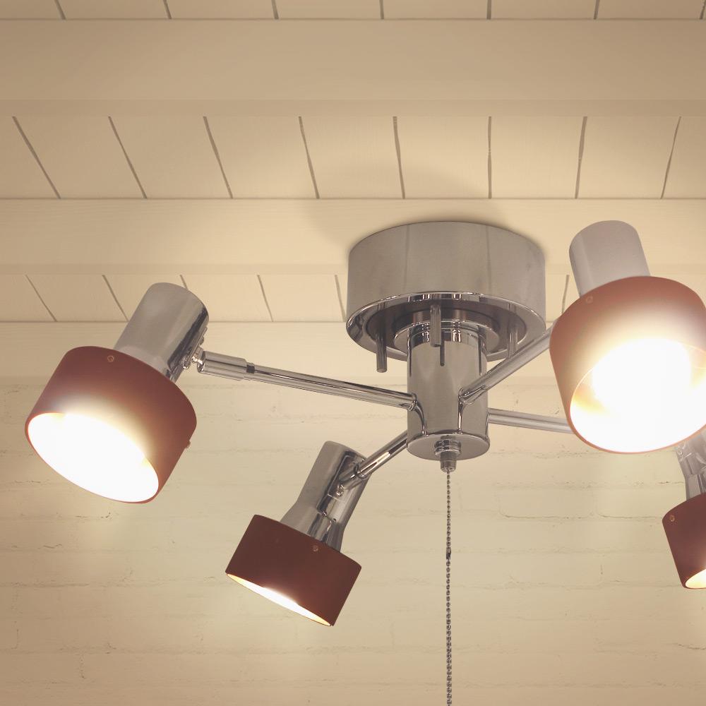 4灯ウッドサークル クロスシーリングライト おしゃれ クロス 天井照明 照明器具 スポットライト 木製 リビングライト シーリングスポットライト ledライト