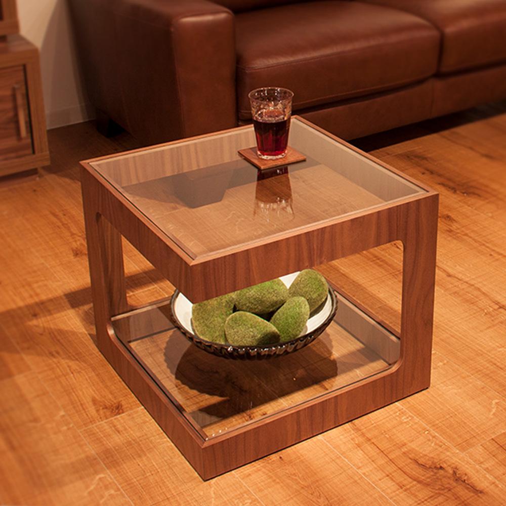 代金引換不可 ガラスサイドテーブル ラウル |テーブル ガラステーブル ローテーブル おしゃれ 木製
