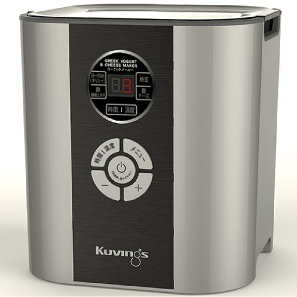 【総額12000円から使える10%OFFクーポン】 クビンス Kuvings ヨーグルト&チーズメーカー KGY-713SM シルバー